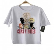 Camiseta Infantil de Rock Guns n Roses CUTE - White