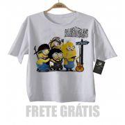 Camiseta Infantil de Rock Raimundos Minions Baby Monster