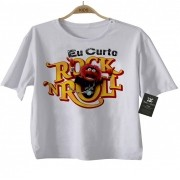 Camiseta  Infantil Eu curto Rock n Roll - White