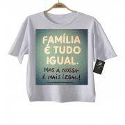 Camiseta  Infantil - Família tudo igual   - White