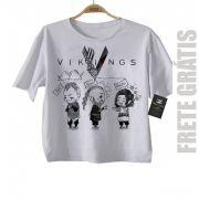 Camiseta Infantil Filmes e Seriados  - VIKINGS -   White