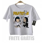 Camiseta infantil filmes Pulp Fiction - Snoopy  (Tarantino) - White