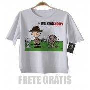 Camiseta Infantil  Filmes The Walking Dead Snoopy