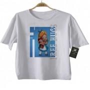 Camiseta Infantil  Free Hugs - Alice-  Abraço de Super Vilão - White