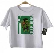 Camiseta Infantil  Free Hugs -  Hulk -  Abraço de Super Vilão - White