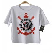 Camiseta Infantil  FutRock  Time Corinthians Rock N' Roll - White