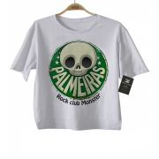Camiseta Infantil Time  FutRock Palmeiras Rock monster Blub- White