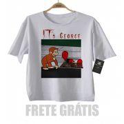 Camiseta Infantil It a Coisa e o George Curioso - White