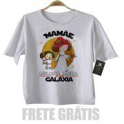Camiseta Infantil  Mamãe Melhor amiga da Galáxia (Menina)