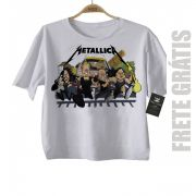 Camiseta Infantil Metallica Run - White