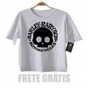 Camiseta Infantil  Moto Rock - Harley Babyson - White