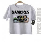 Camiseta Infantil  Nerd Geek  RAMONES Pokemon - White