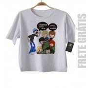 - Camiseta infantil   Nerd / Geek  Seu Madruga e os Vingadores - White