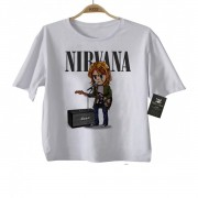 Camiseta Infantil  Nirvana Anime 3d - Estampa Animada