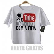 Camiseta Infantil | Not Pertube Titia | Divertido | White