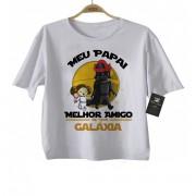 Camiseta Infantil Papai Melhor amigo da Galáxia (Menina)