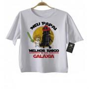 Camiseta Infantil  Papai Melhor amigo da Galáxia (Menino)