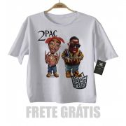Camiseta Infantil  Rap / Hip hop   2 pac e Biggie Smalls - White