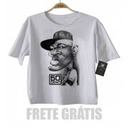 Camiseta Infantil  Rap / Hip hop   Baby 50 cent  - White