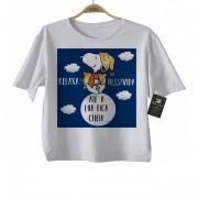 Camiseta Infantil Relaxa, na  vida Snoopy Baby Monster
