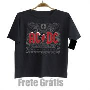 Camiseta Infantil  Rock Acdc - Black Ice