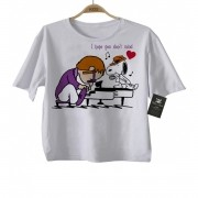 Camiseta Infantil Rock Baby Elton John Snoopy