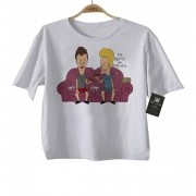 Camiseta Infantil Rock Beavis and Buttered - White