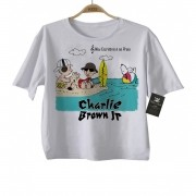Camiseta Infantil Rock Bebe Charlie Brown JR  Snoppy - Praia