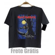 Camiseta Infantil Rock Iron Maiden -  Fear of The Dark- Black