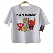 Camiseta Infantil Rock Iron Maiden Quem dera - White