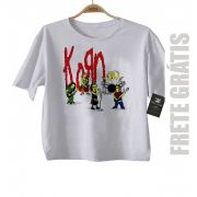 Camiseta Infantil Rock Korn -  Simpson - White