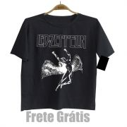 Camiseta Infantil Rock Led Zeppelin Black