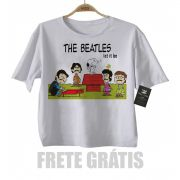 Camiseta Infantil Rock The Beatles - Snoopy  Let it Be  - White