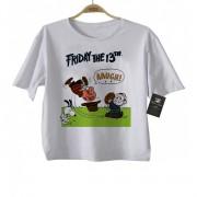 Camiseta Infantil Snoopy Sexta feira 13