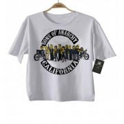 Camiseta Infantil  Sons of Anarchy Simpsons - White