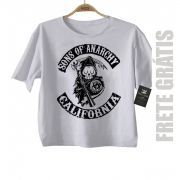 Camiseta Infantil  Sons of Anarchy Skull - White