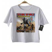 Camiseta Infantil Star Wars / Iron Maiden - White