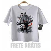 Camiseta infantil  Terror Casinha na Arvore
