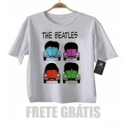 Camiseta Infantil  The Beatles Fusca Anime 3d