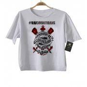 Camiseta Infantil  VAI CORINTHIANS Time Corinthians Rock N' Roll - White
