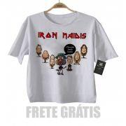 Camiseta Nerd / Geek  Bebe Mussum - Iron Maidis / Maiden - White