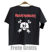 Camiseta Rock Infantil IRON MAIDEN - Skull - Black