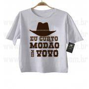 Camiseta Sertanejo Curto Modão com a Vovó- White