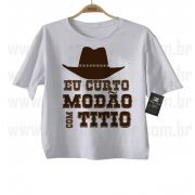 Camiseta Sertanejo Curto Modão com o Titio- White