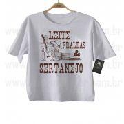 Camiseta Sertanejo Leite Fraldas e Sertanejo - White