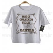 Camiseta Sertanejo Nasci Curtindo Viola - White