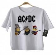 ÓPIA - Body Bebe de  Rock ou Camiseta Infantil  Acdc Minions - White