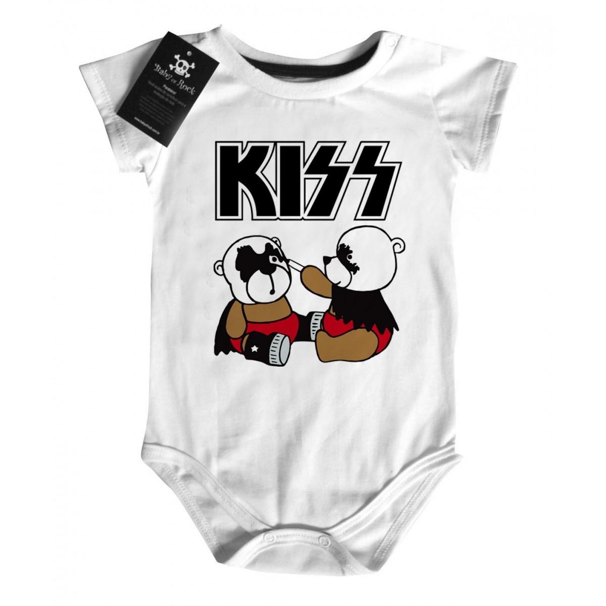 Body Bebê KISS - Cute -  White  - Baby Monster S/A
