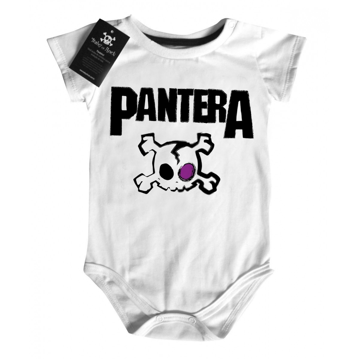 Body Rock Baby Pantera - White  - Baby Monster S/A