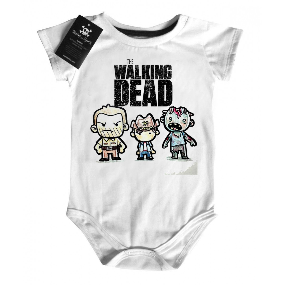 Body Bebê the walking dead - White  - Baby Monster - Body Bebe
